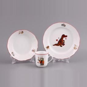 Детский набор посуды на 1 персону «Зверята», 3 пр. цена от 2 059 руб