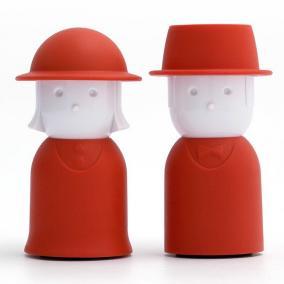 Солонка+перечница Mr.Pepper & Mrs. Salt красный цена от 900 руб