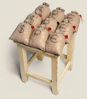 """Сидушка на стул """"Денежный мешок"""" цена от 2 000 руб"""