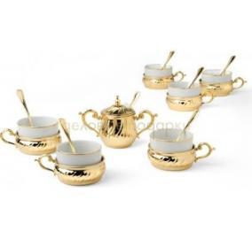 Набор для чая, 6 персон (позолота) цена от 21 910 руб