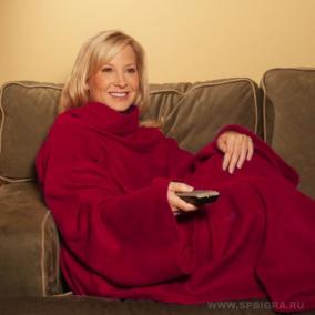 Плед с рукавами Cuddle blanket цена от 990 руб