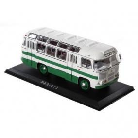 """Коллекционная модель автобуса """"Паз-672"""" (бело-зелёный) цена от 4 600 руб"""