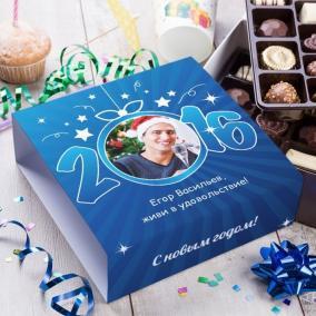 """Бельгийский шоколад в подарочной упаковке """"Счастливого Нового года"""" от 2 660 руб"""