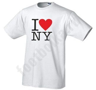 "Футболка ""I love New York"", белая купить"