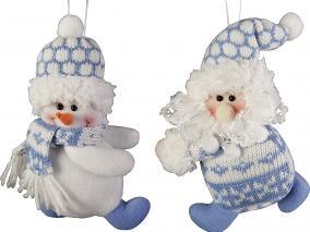 "Мягкая игрушка ""Дед Мороз"", ""Снеговик"" Mister Christmas Collection цена от 590 руб"