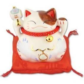 "Японский кот-копилка Манеки-неко ""Успех, благосостояние и много клиентов!"", белый цена от 1 010 руб"