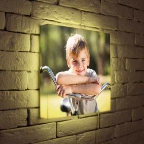Ваши любимые детские фотографии на дизайнерских 3D светильниках от 3 800 руб